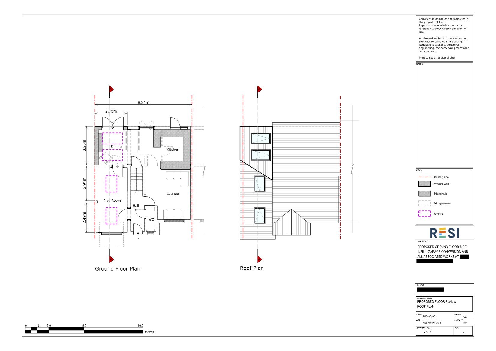 Architectural drawings 20   ground floor and roof plans