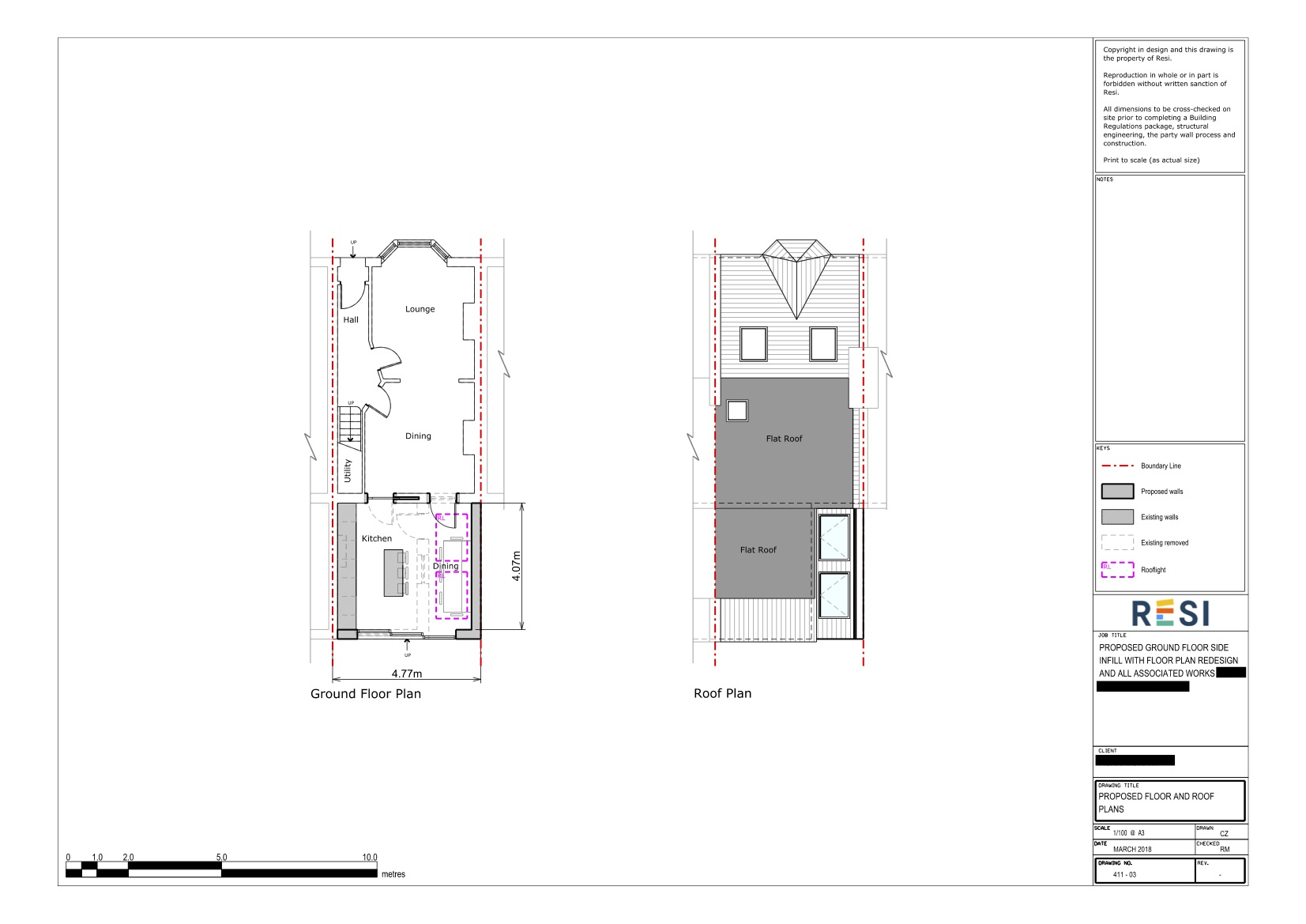 Architectural drawings 22   ground floor and roof plans