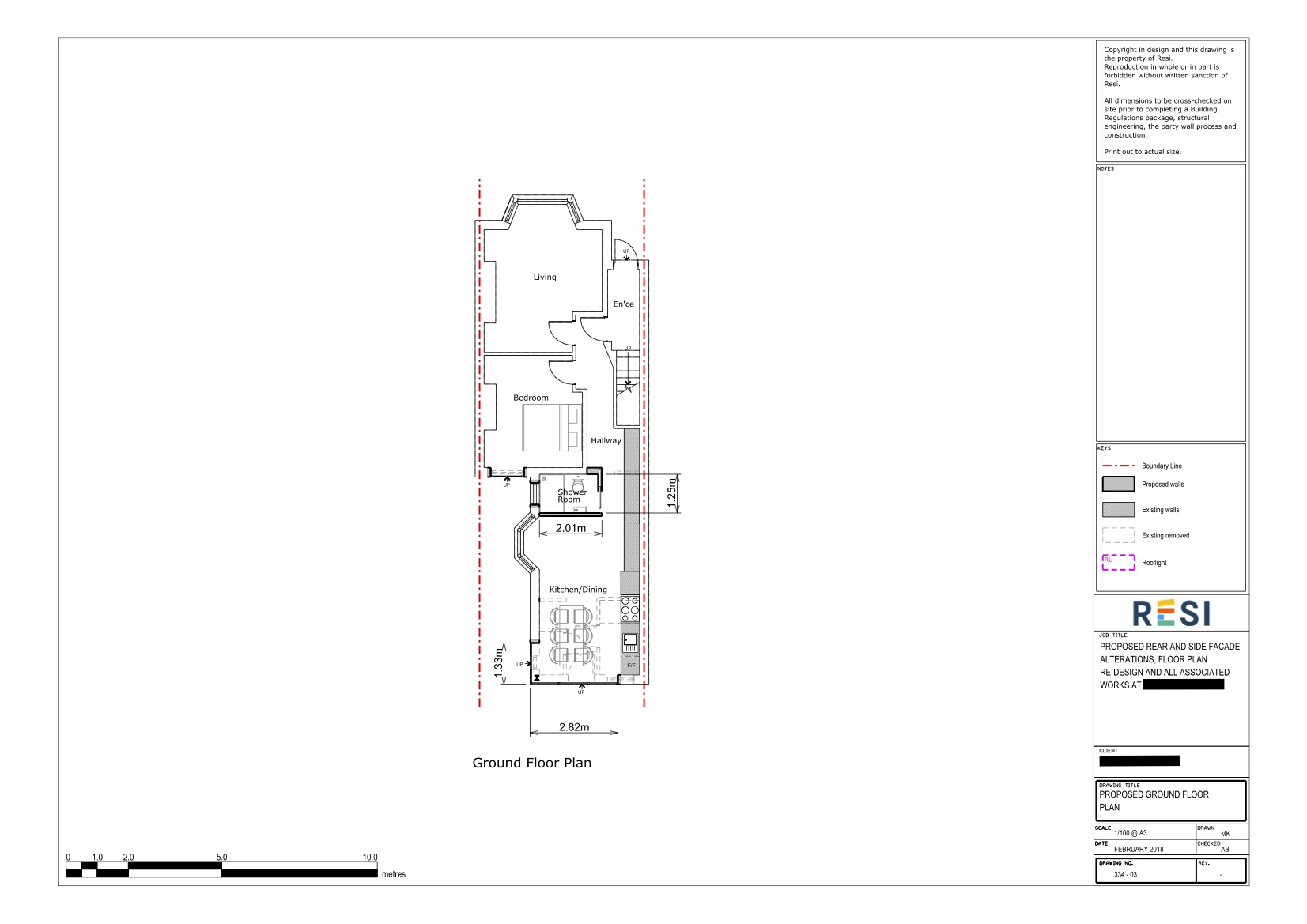 Architectural drawings   ground floor plan