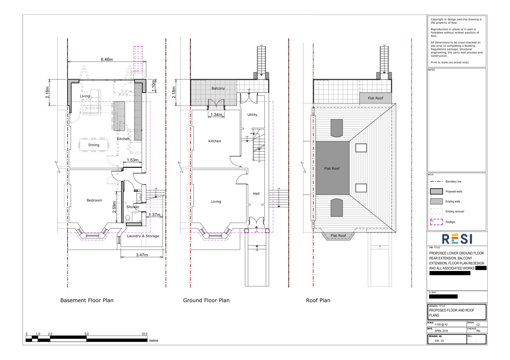 Architectural drawings 31   basement and ground floor plans