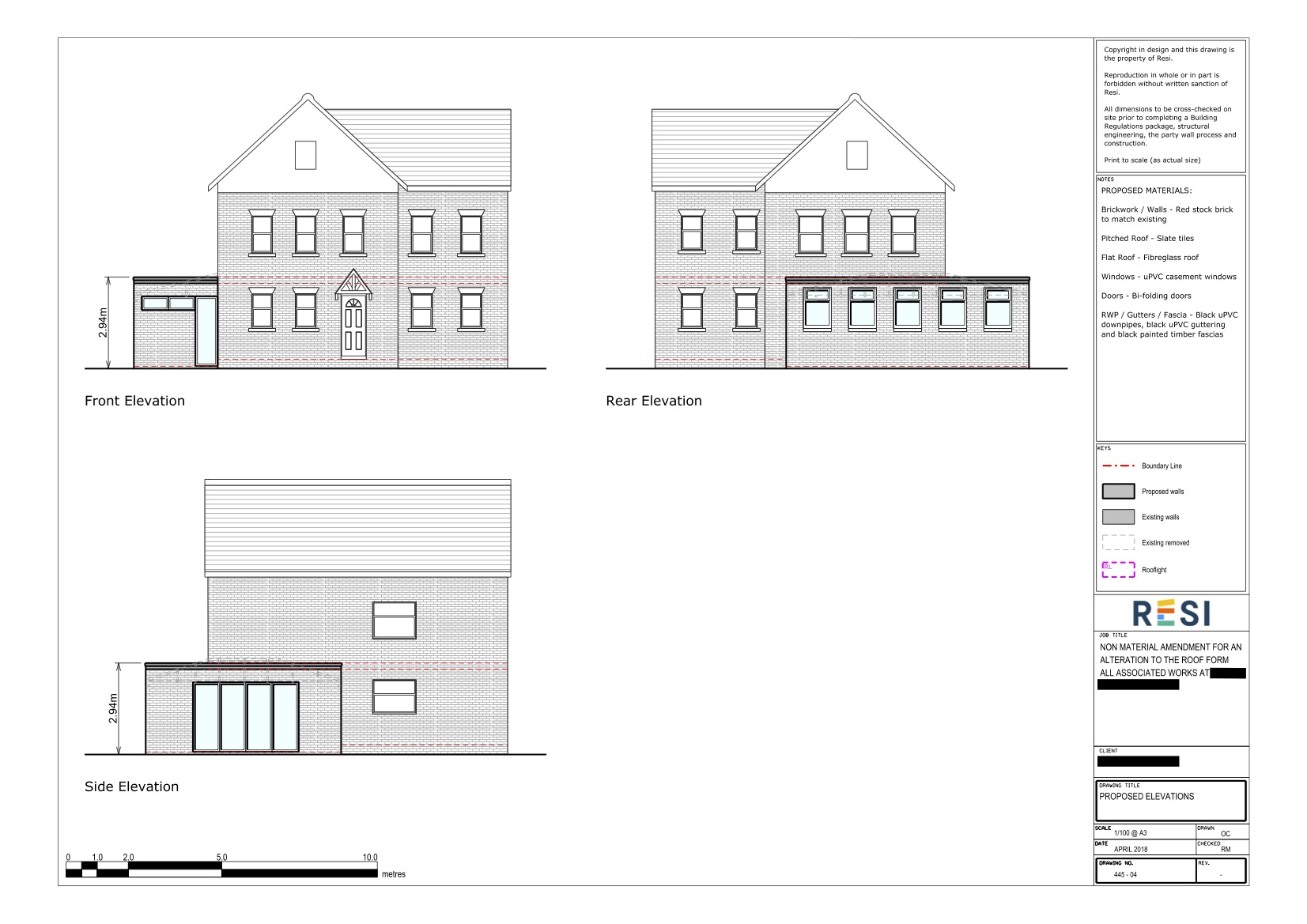78 half acre road   architectural drawings   elevations