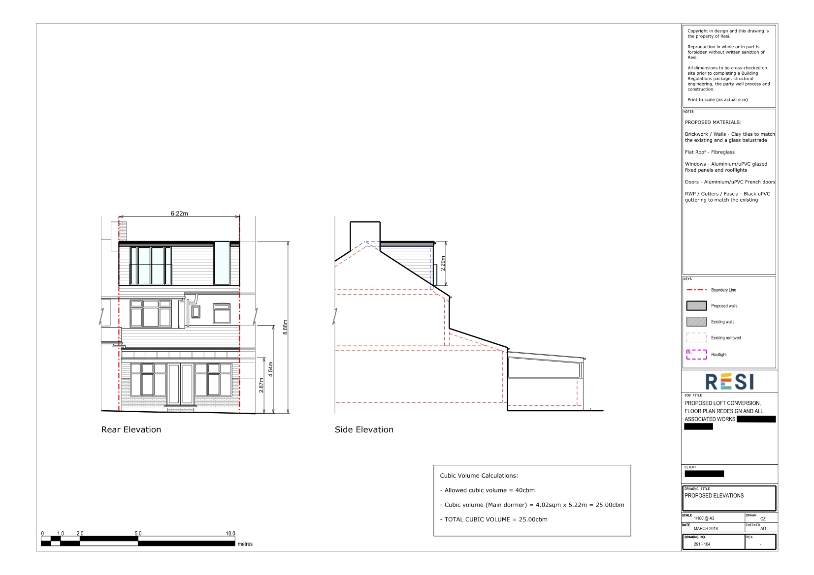 Loft architectural drawings   first floor and loft elevations