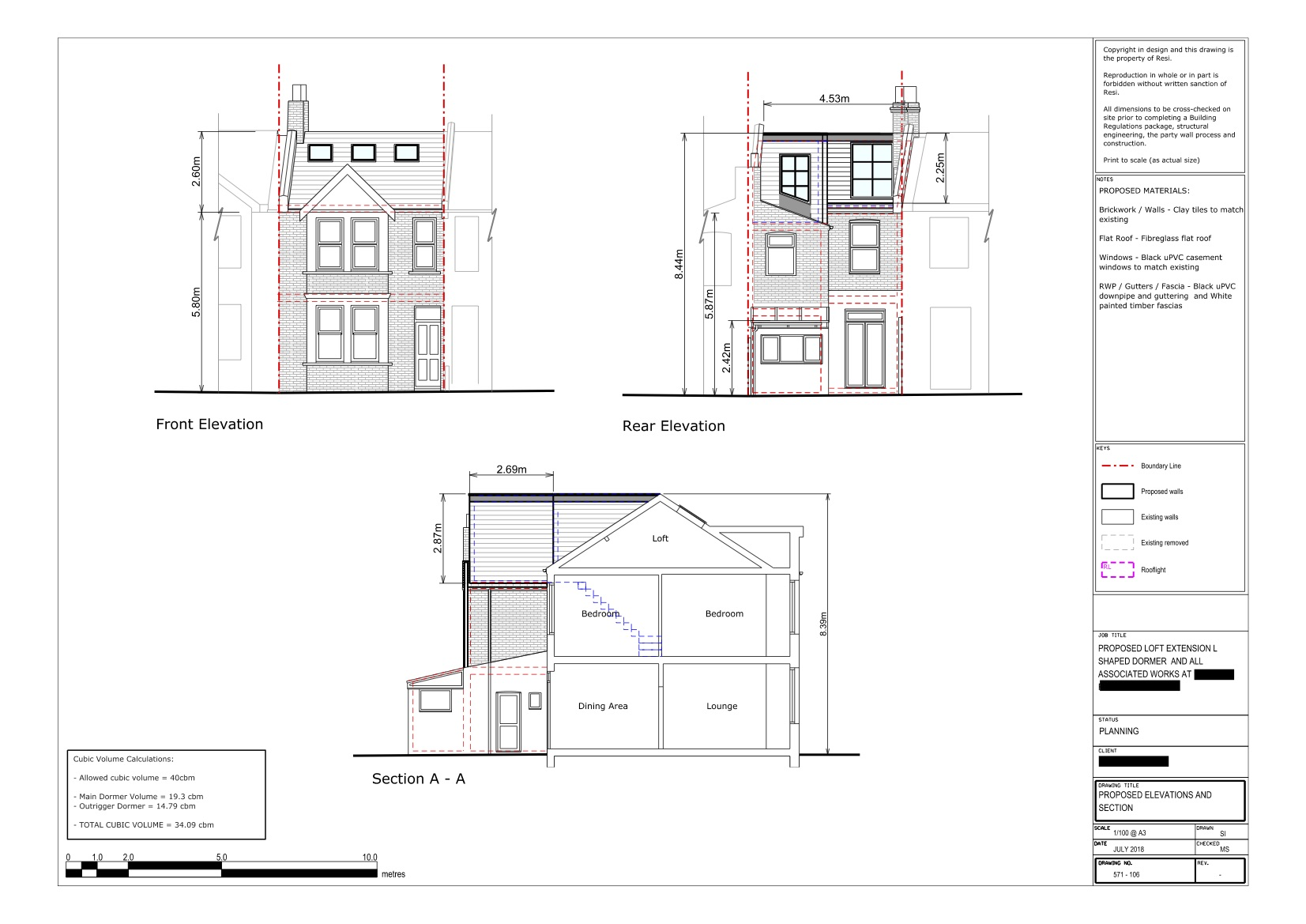 Architectural drawings 571    loft elevations