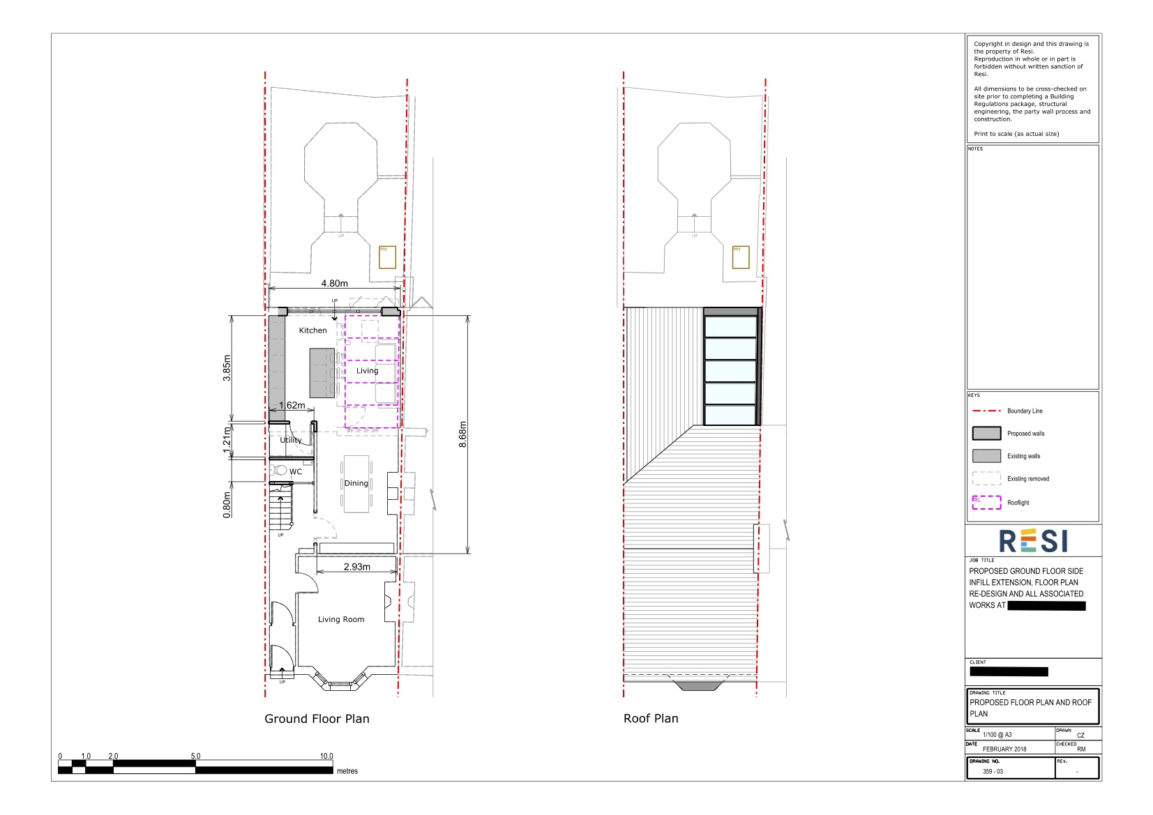 Architectural drawings   floor and roof plans