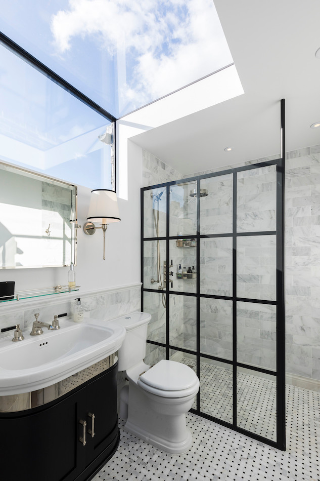 Loft bathroom - inchmery with roof light