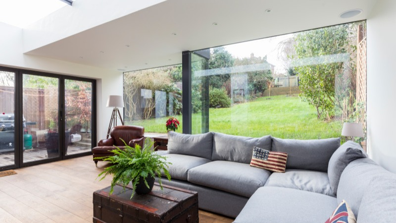 a ground floor rear extension in crystal palace. total cost approx   75 000 plus vat   excluding glazing and kitchen
