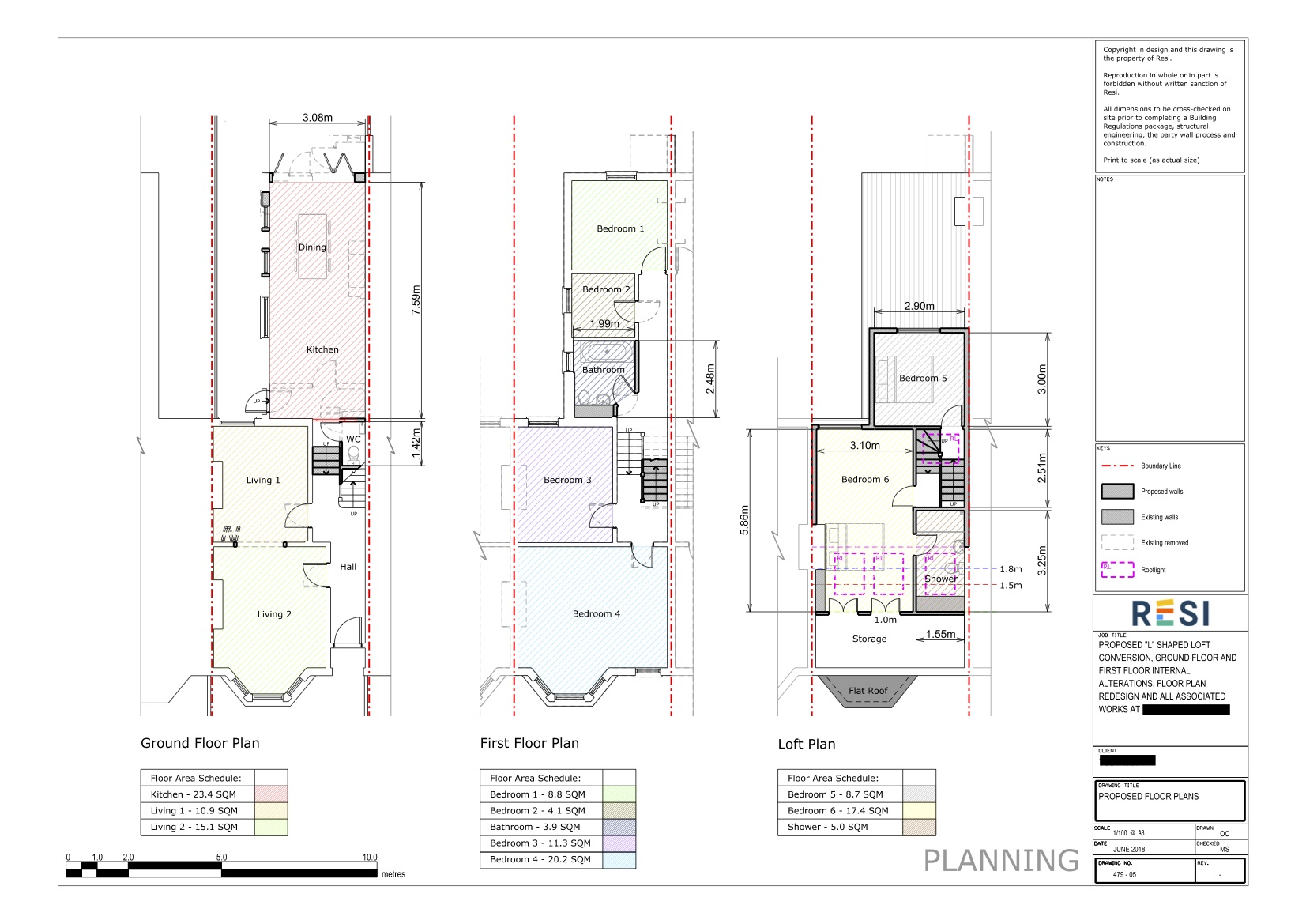 Architectural drawings 32   ground  first floor  and loft plans