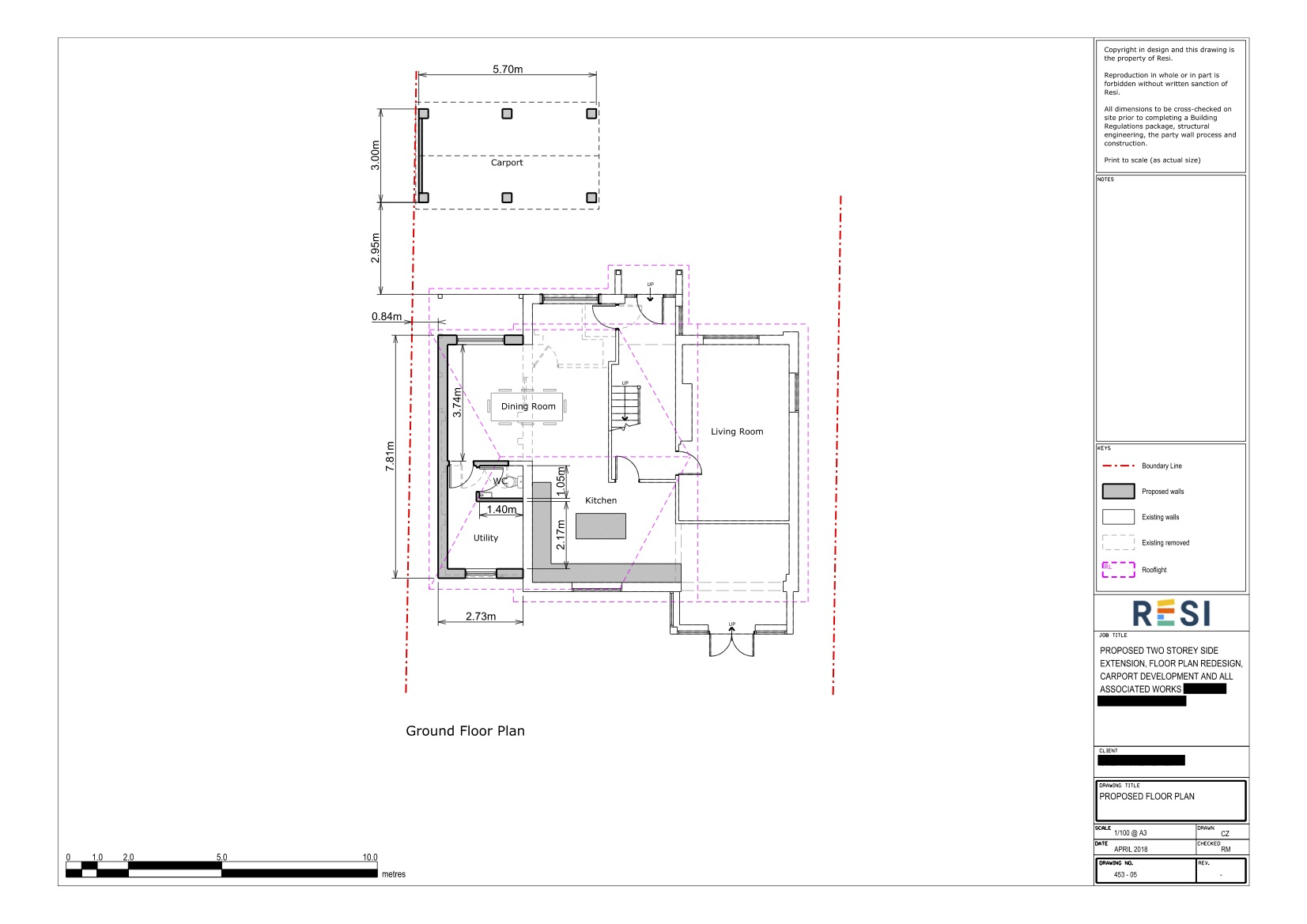 Architectural drawing package   ground floor plans