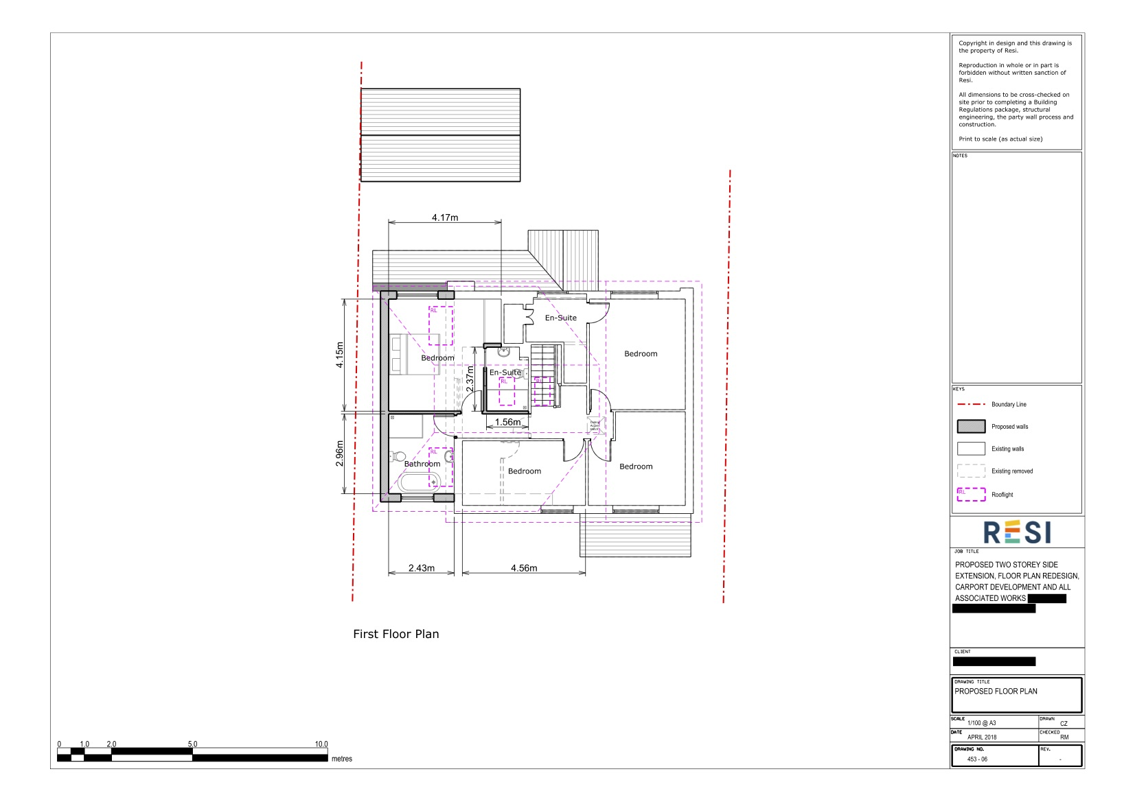 Architectural drawing package   first floor plans