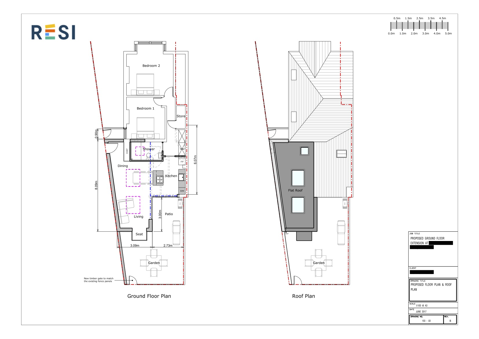 Revised architectural drawings   floor and roof plans