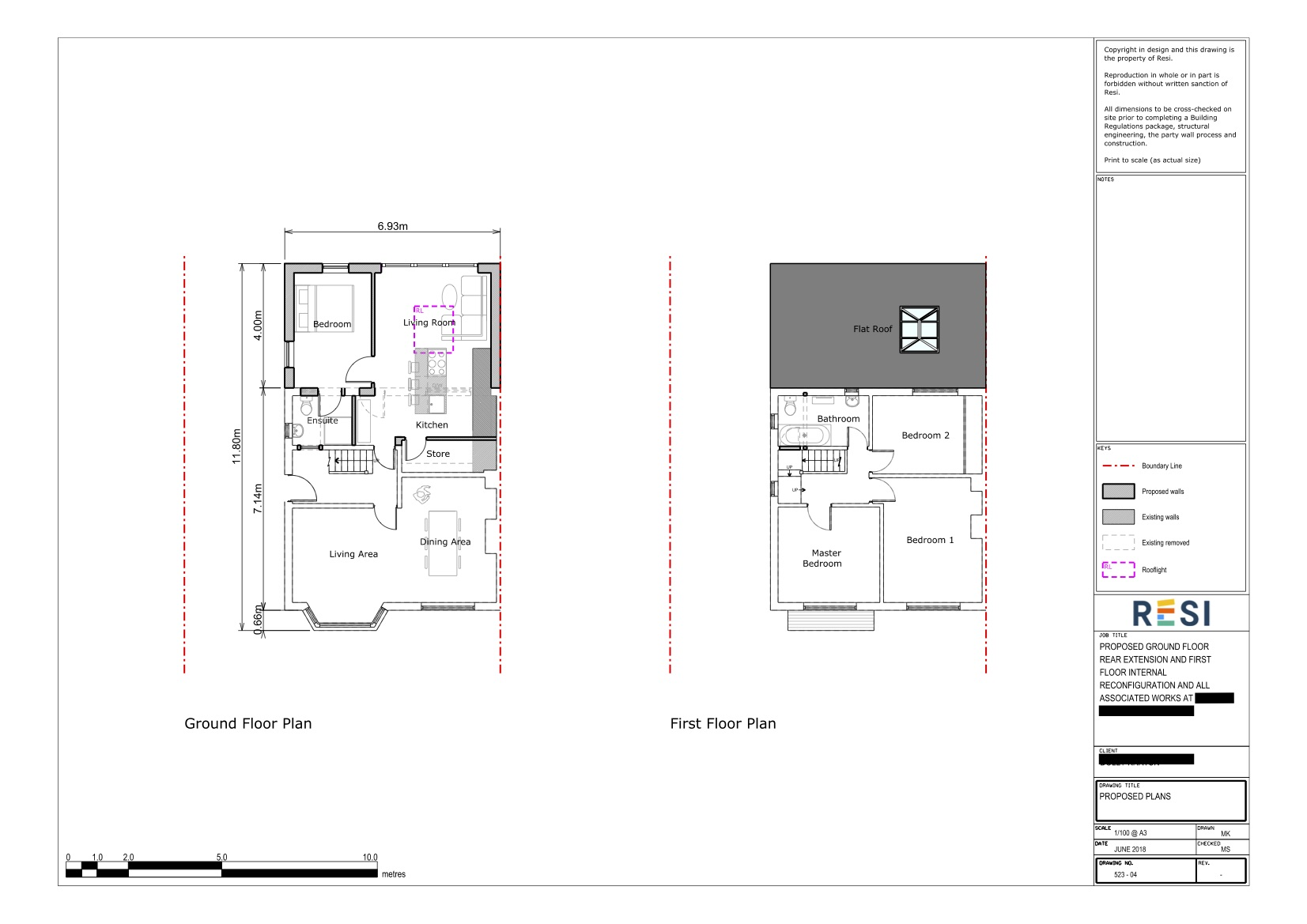 Architectural drawing set 2   ground and first floor plan
