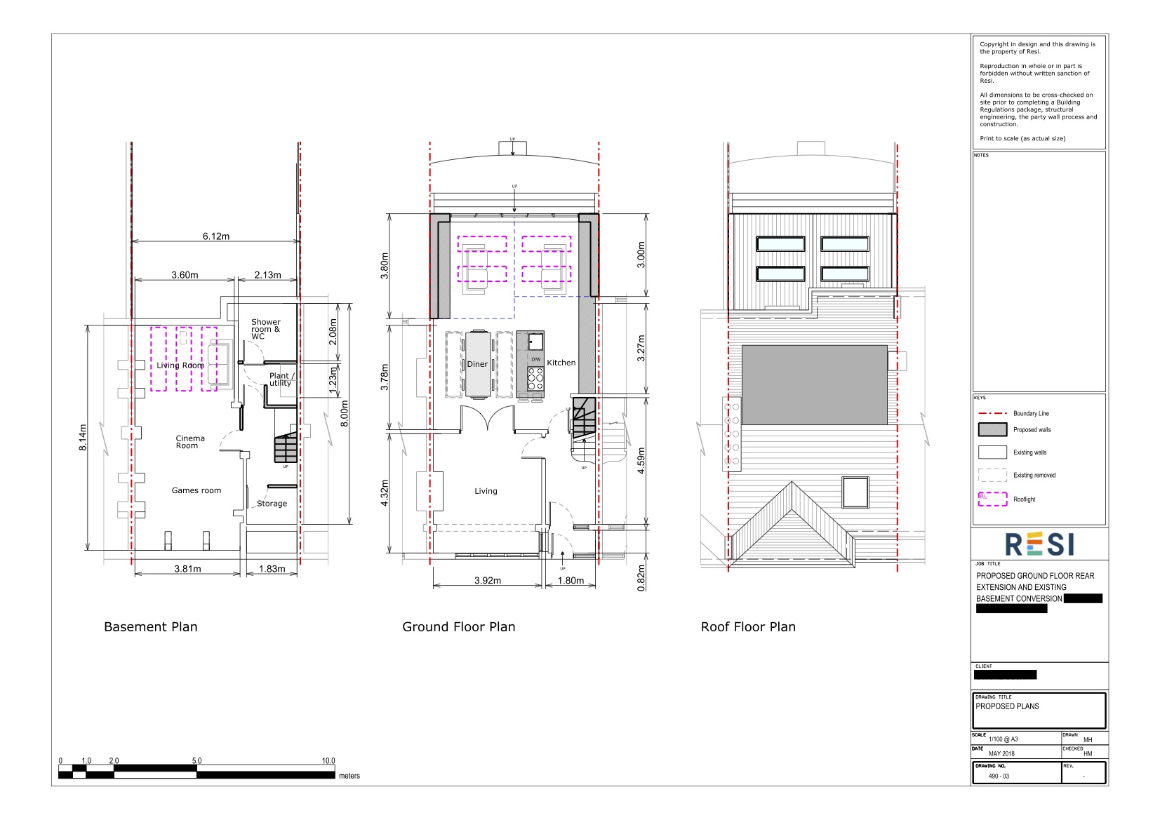 Architectural drawings 24   gf and basement floor plans