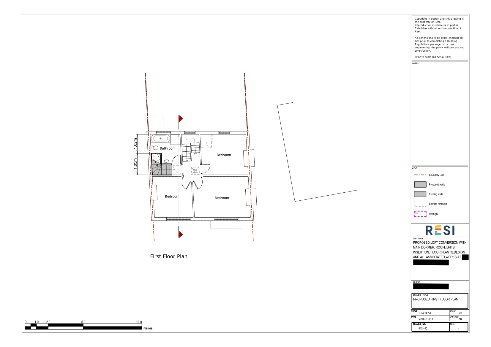 Architectural drawings   first floor plan