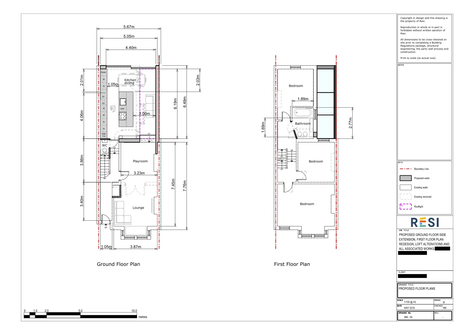Architectural drawings rev a  ground and first floor plans