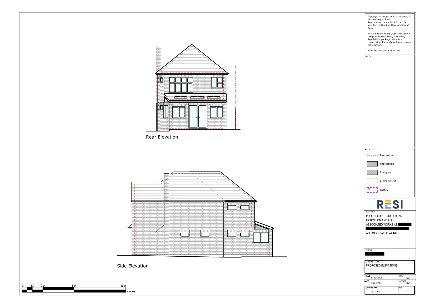 Architectural drawings   gf rear and side elevations