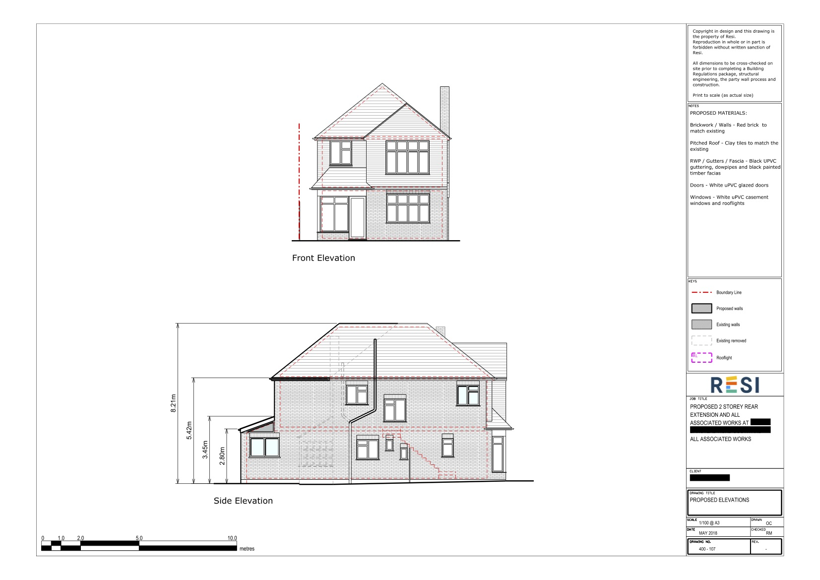 Architectural drawings   gf front and side elevations