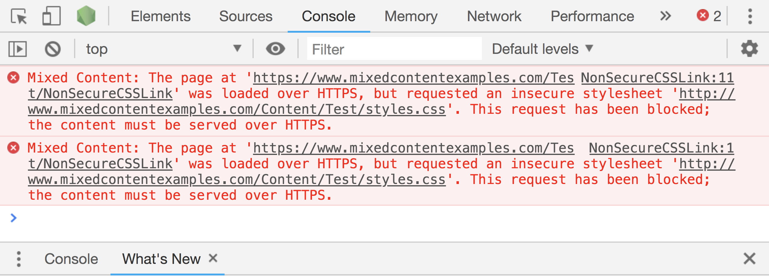 Mixed Content Errors in Chrome