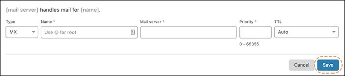이전 URL: https://support.cloudflare.com/hc/article_attachments/360037269151/adding_mx_records_annotated.png 문서 ID: 360019093151 | Cloudflare에서 DNS 레코드 관리