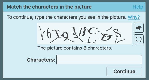 Beispiel eines CAPTCHA