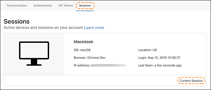 Old URL: https://support.cloudflare.com/hc/article_attachments/360038654971/session_listing_session_tab.png Article IDs: 360033455752 | Viewing and revoking active Cloudflare dashboard sessions