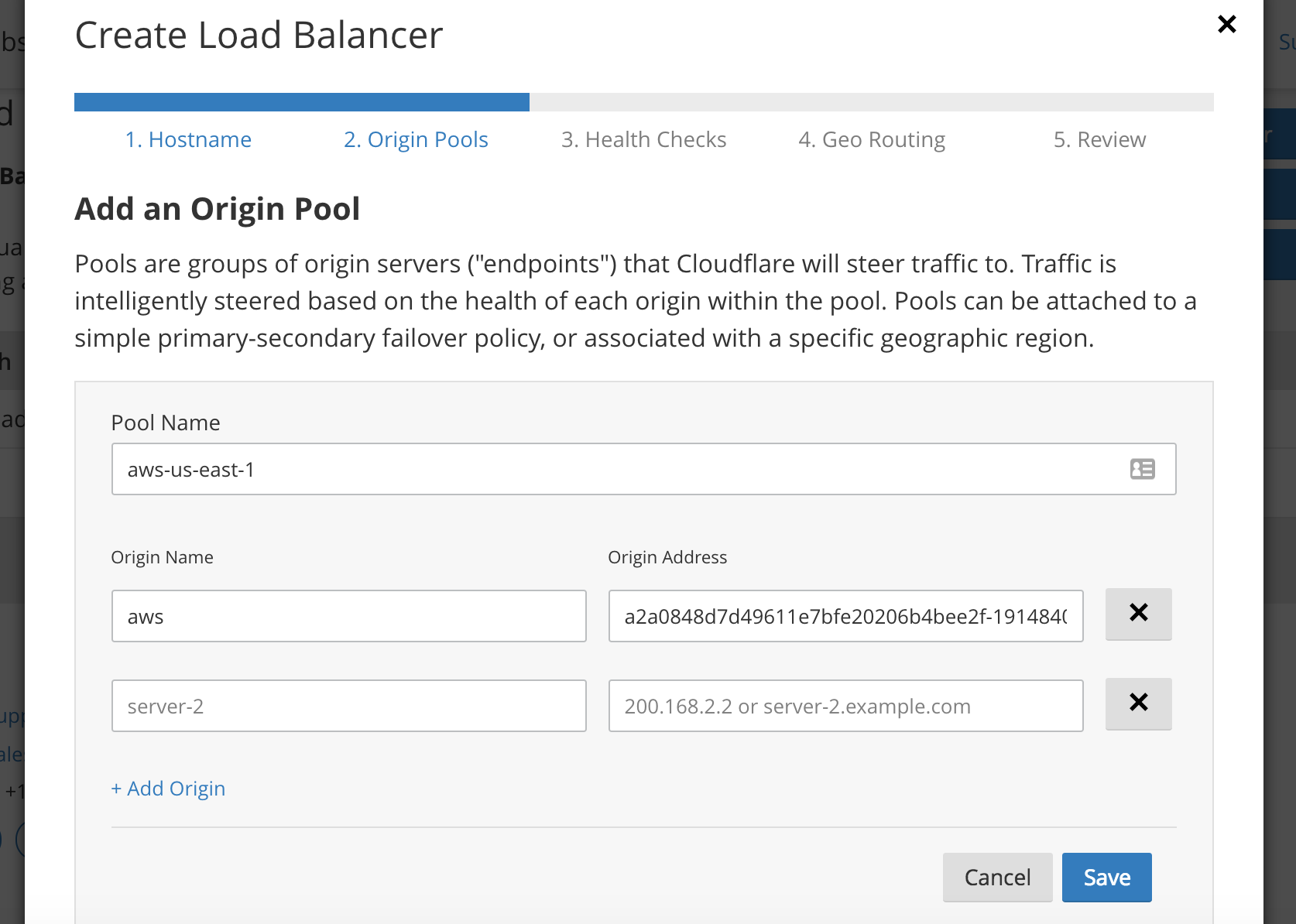Old URL: https://support.cloudflare.com/hc/article_attachments/115003992412/AWS_Origin_Pool.png Article IDs: 115003384591 | Using Kubernetes on GKE and AWS with Cloudflare Load Balancer
