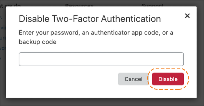 旧URL:https://support.cloudflare.com/hc/article_attachments/360038195192/2FA_disable.png Article IDs: 200167906 | Securing user access with two-factor authentication (2FA)