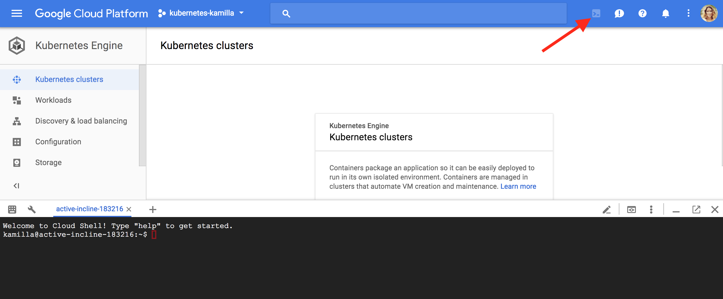 Old URL: https://support.cloudflare.com/hc/article_attachments/115003972971/Google_Cloud_Shell.png Article IDs: 115003384591 | Using Kubernetes on GKE and AWS with Cloudflare Load Balancer