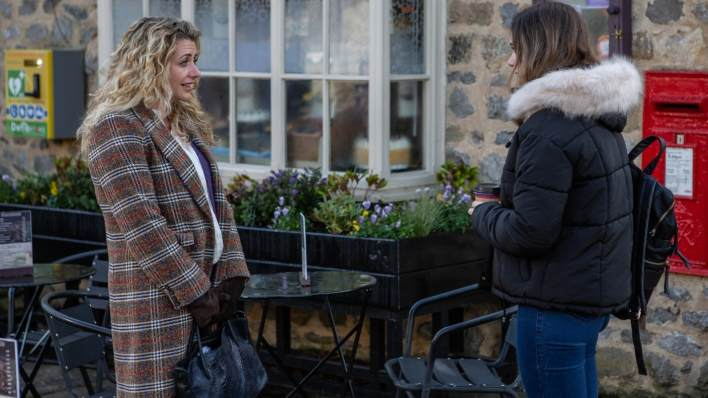 Maya and Gabby on Main Street - Emmerdale - ITV