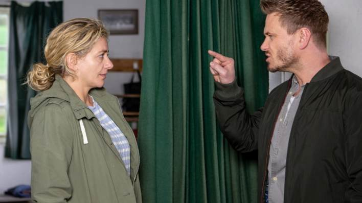 David confronts Maya - Emmerdale - ITV