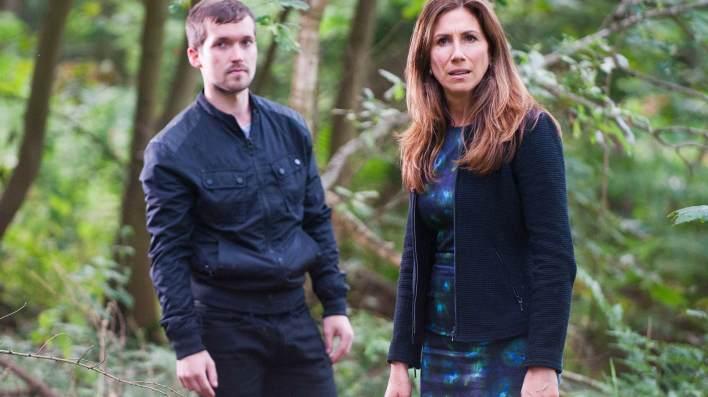 Megan and Robbie  in the woods - Emmerdale - ITV