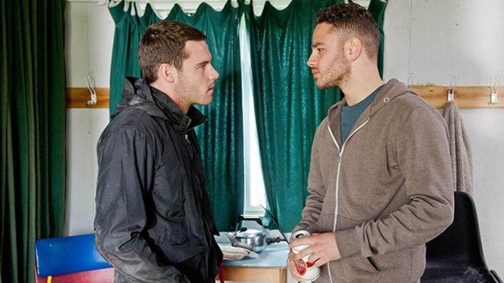 Adam and Aaron in the city - Emmerdale - ITV