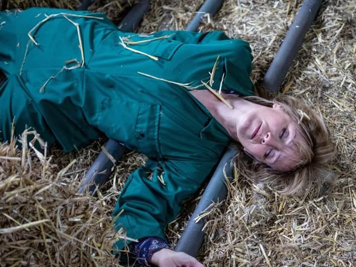 Rhona at Butlers Farm - Emmerdale - ITV