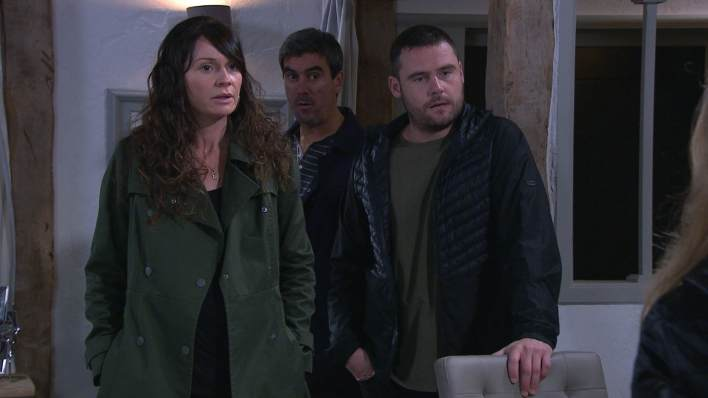 Chas, Cain and Aaron - Emmerdale - ITV