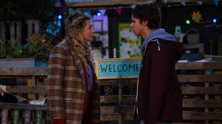 Jacob and Maya in Farrars Barn - Emmerdale - ITV