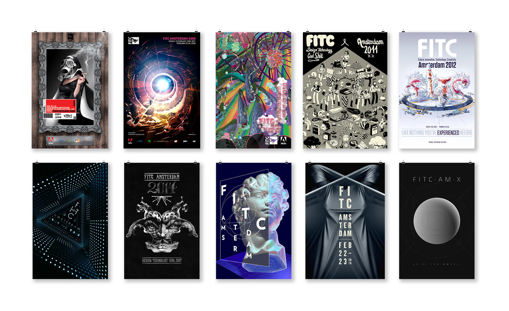 FITC Amsterdam posters 2008-2017 NeonMoire