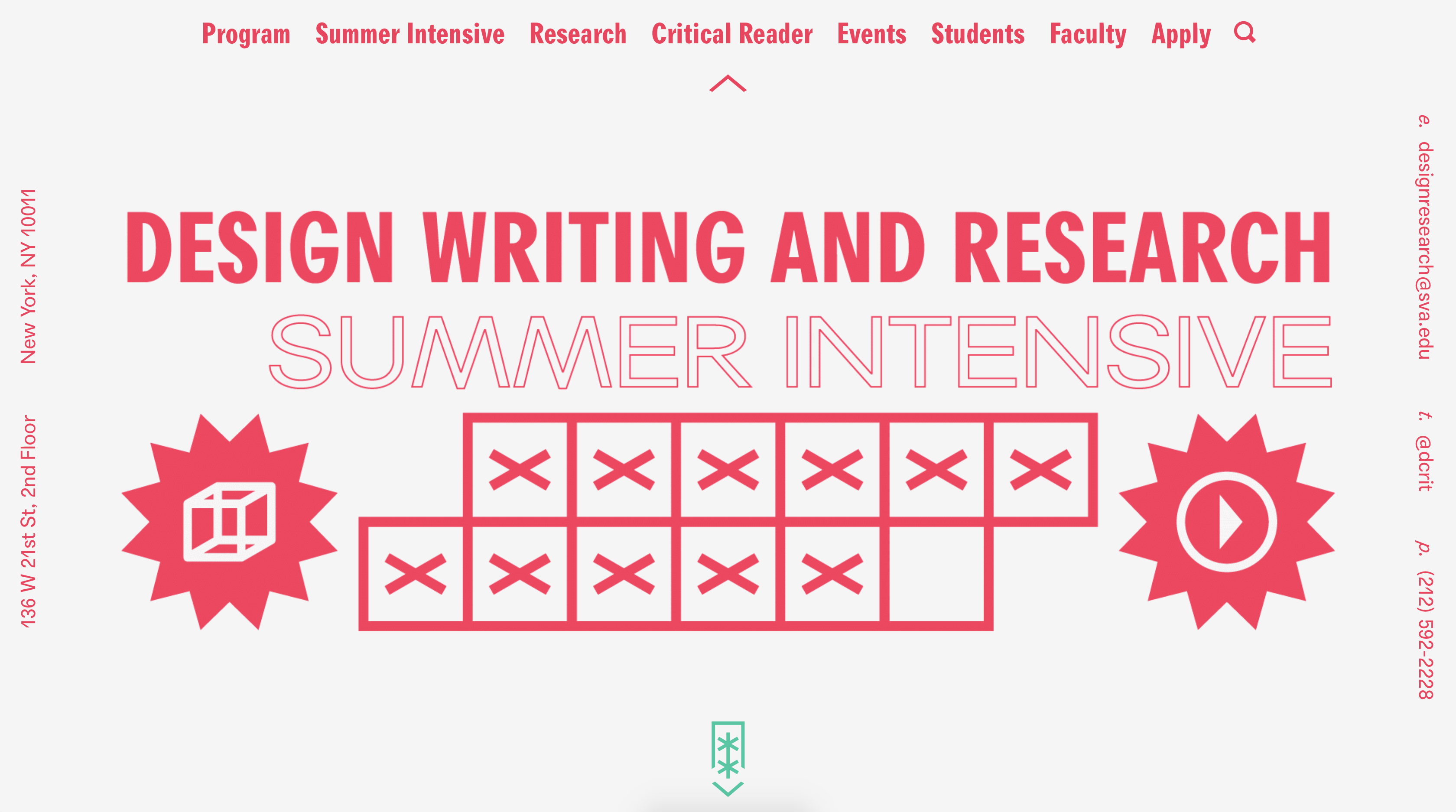 Design Writing and Research Summer Intensive
