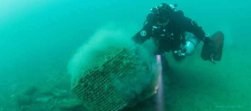 ghost gear fishing clean up diver