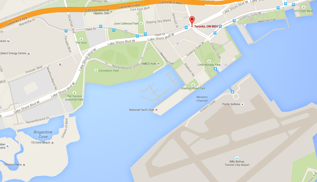 Toronto Schooner Found Map
