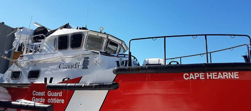 rescue diver rov underwater drone canadian coast guard vessel
