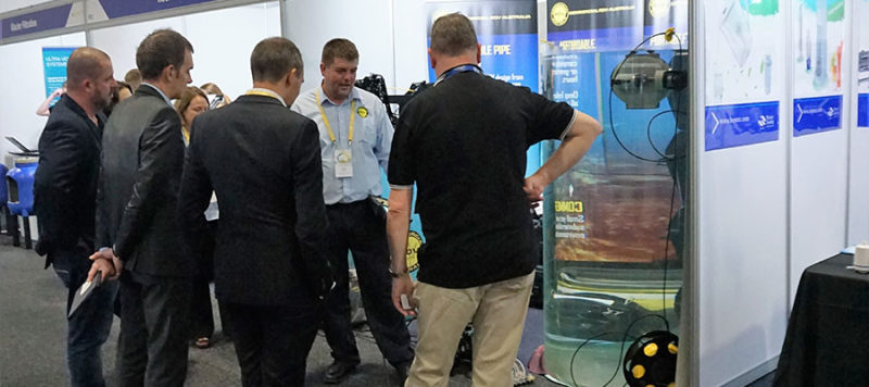 Crowd at Australia Trade Show with deep trekker rov