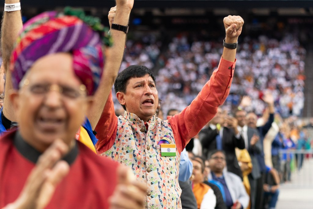 An audience member at the Howdy, Modi! rally at NRG Stadium in Houston, Texas. (Official White House Photo by Shealah Craighead)