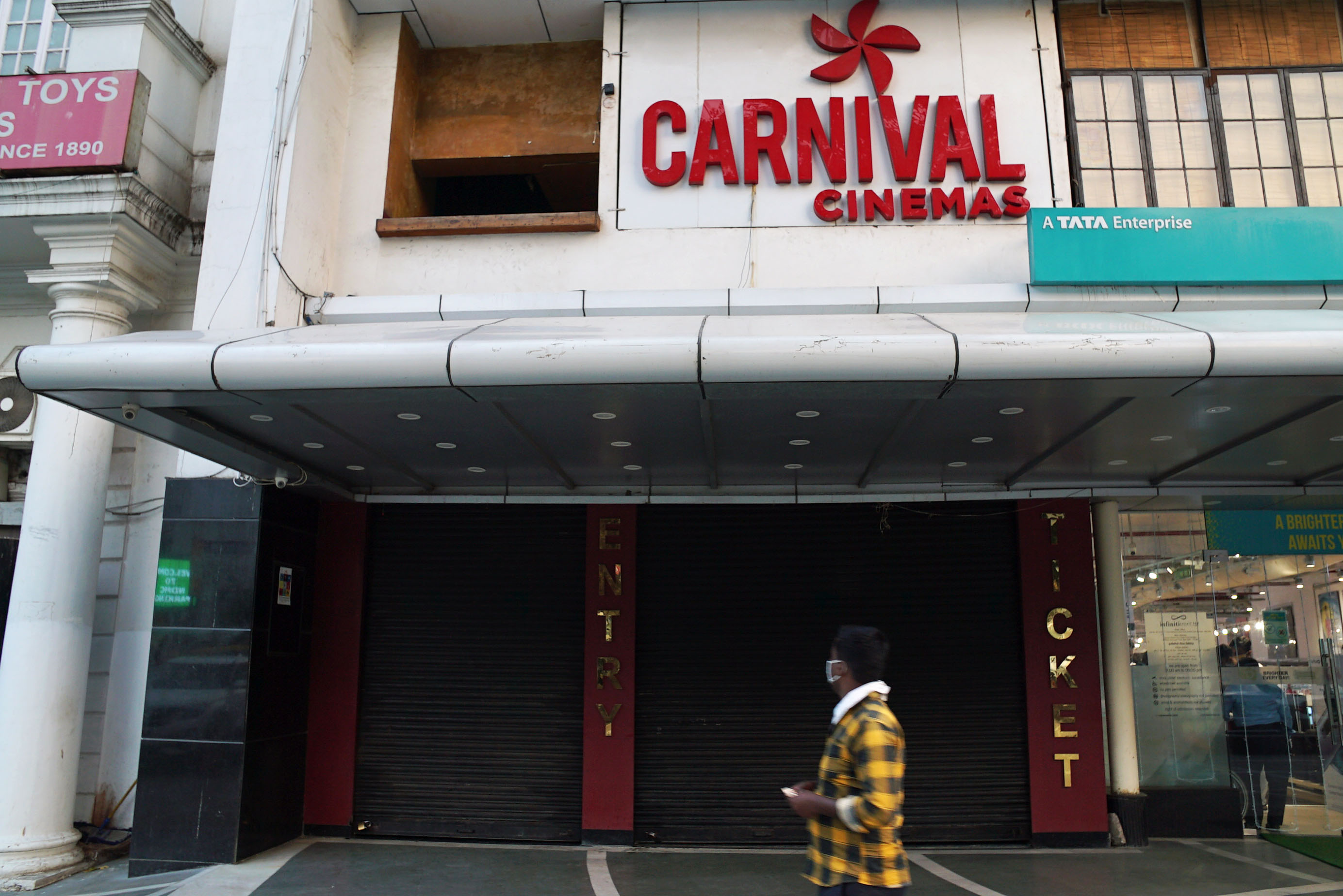 Single screen theater Carnival Cinemas Odeon, Connaught Place, Delhi will be going through maintenance to get ready to reopen in late October. (Veda Shastri)