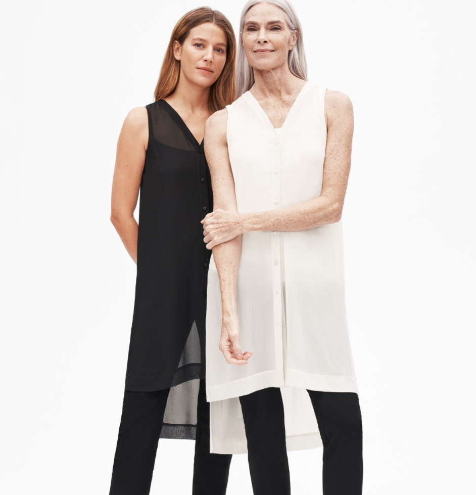 Eileen Fisher's tunics resemble the silhouette of a kurta. (Eileen Fisher)