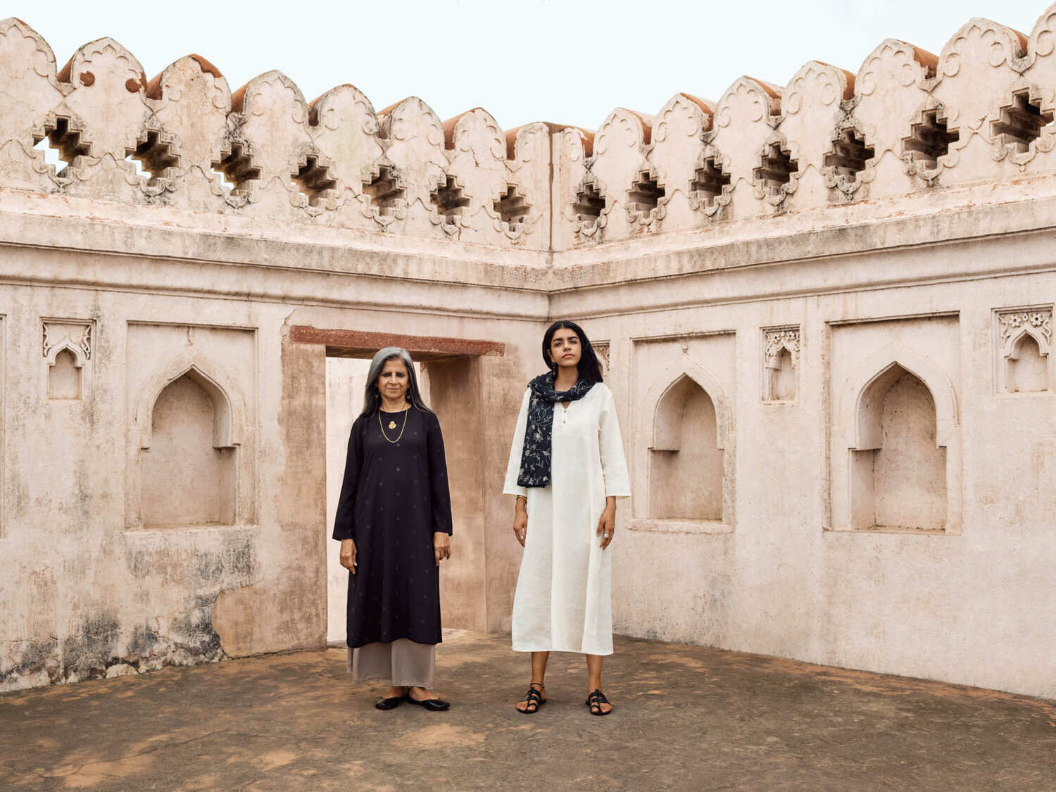 Models dressed in kurtas from Rina Singh's first kurta collection, which launched in India in October 2019. (UNIQLO)