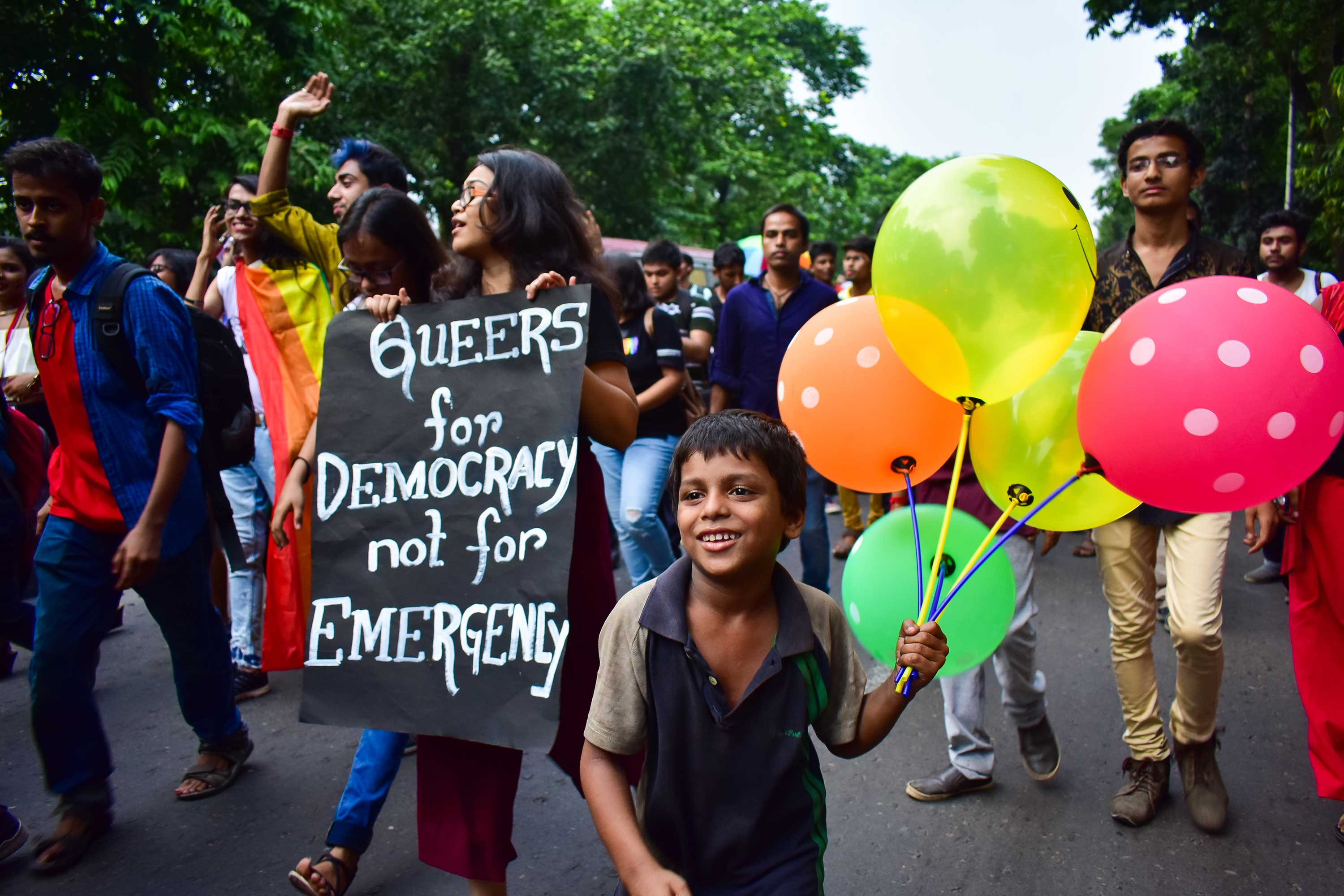 After Section 377 was ruled unconstitutional in 2018, Kolkata's LGBTQ community organized a victory parade. (Arpan Basuchowdhury)