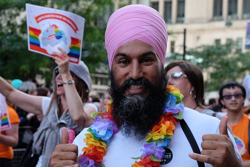 NDP Leader Jagmeet Singh at a Pride Parade, 2017. (ideas_dept/Flickr)