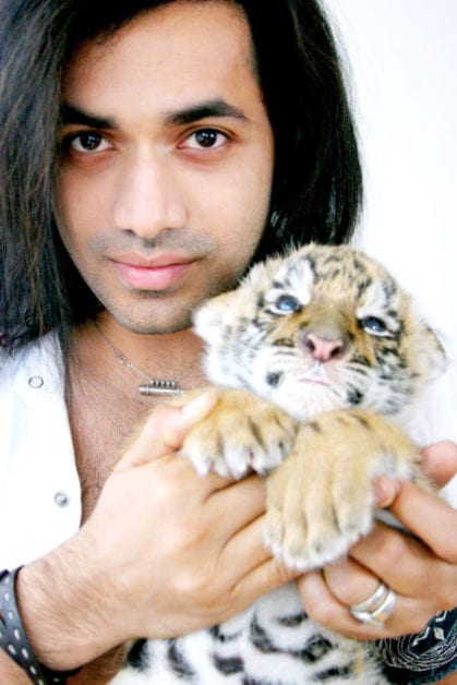 Anand Jon and a baby tiger. (Anand Jon)