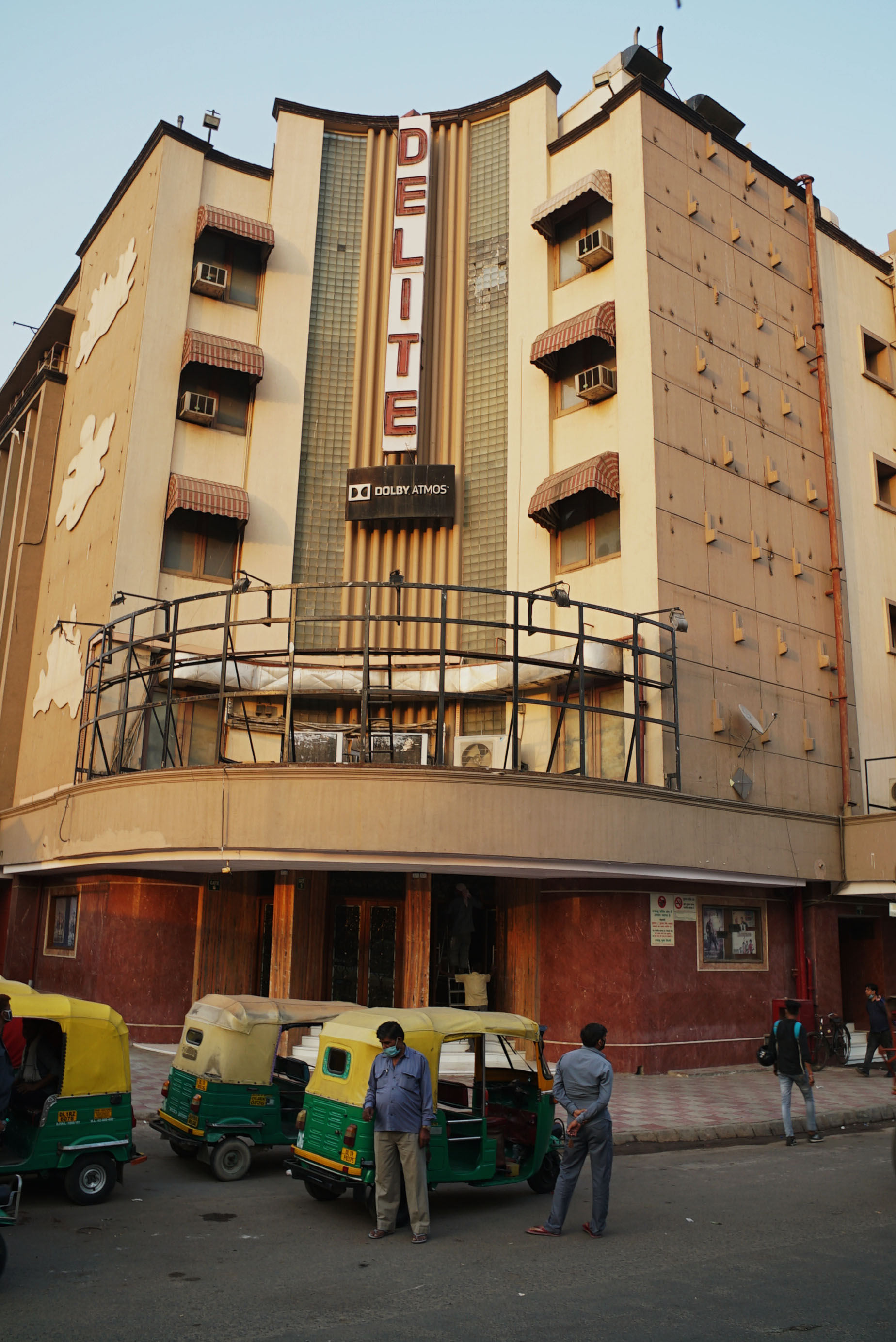 Iconic single-screen theater Delite, on the edge of old Delhi has been closed for more than seven months. (Veda Shastri)