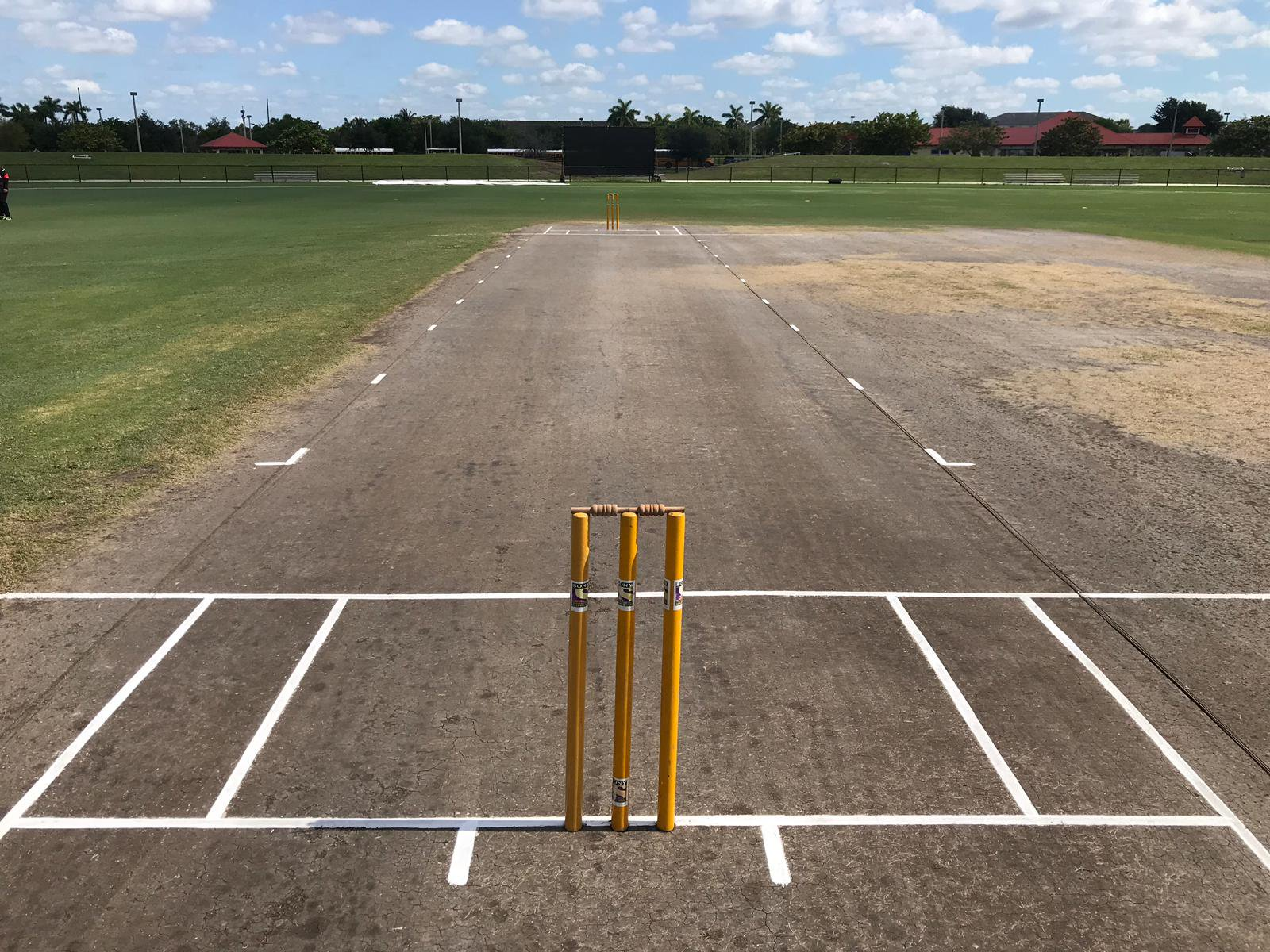 A cricket pitch at Haverford, Pennsylvania. (USA Cricket)