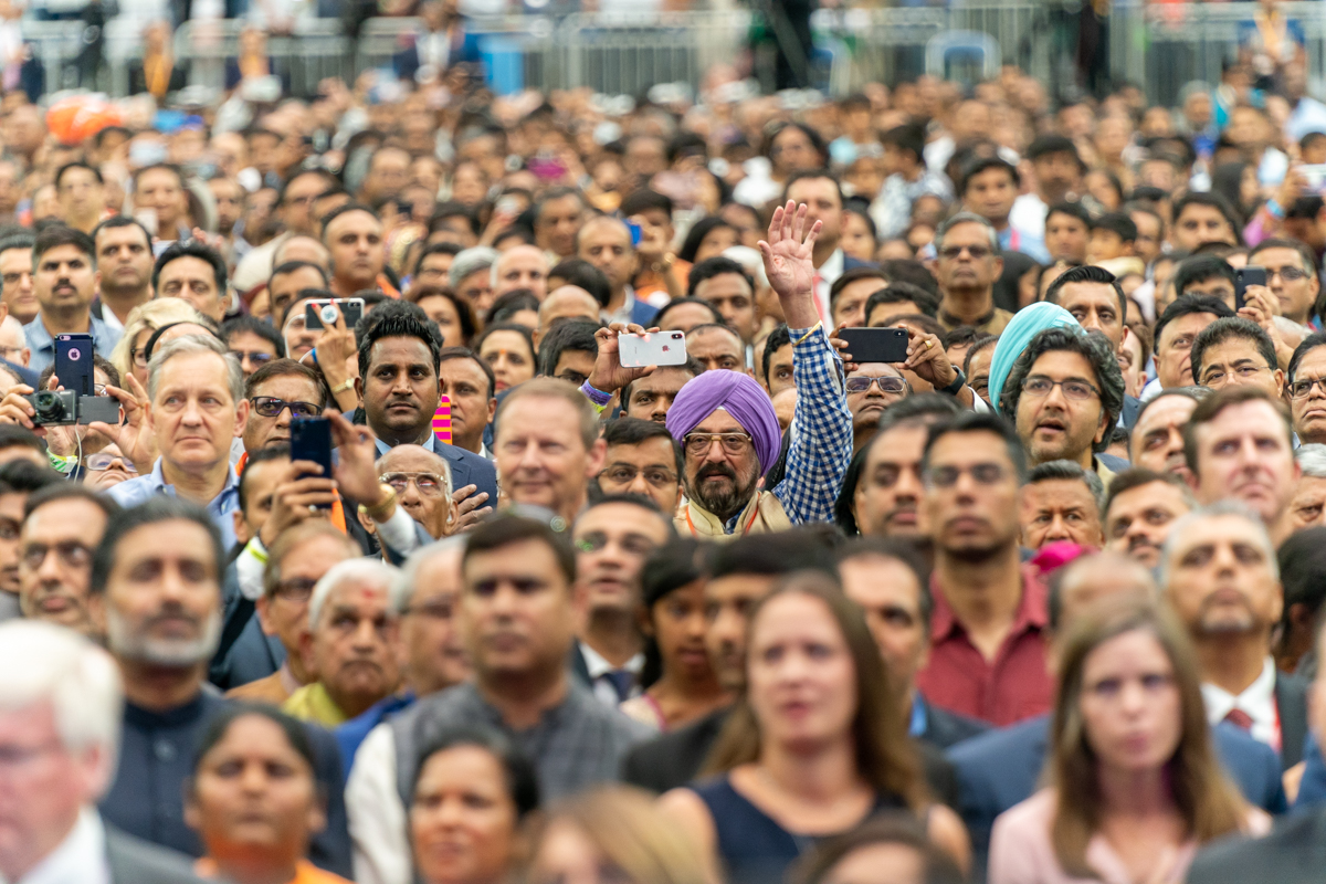 A crowd of more than 50,000 people cheer President Donald Trump and India's Prime Minister Narendra Modi on Sunday, Sept. 22, 2019, at Howdy Modi! at NRG Stadium in Houston, Texas (Official White House Photo by Shealah Craighead)